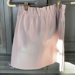Blush colored faux leather skirt